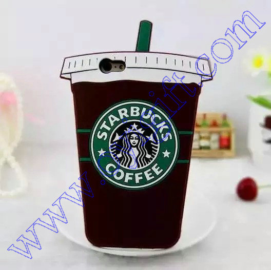 Star bucks design Silicon rubber phone Case covers