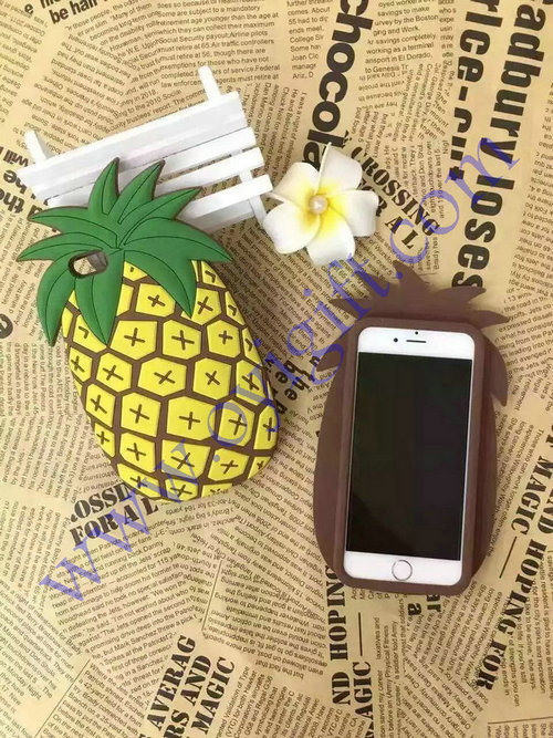 Pineapple design silicone phone cases Soft covers