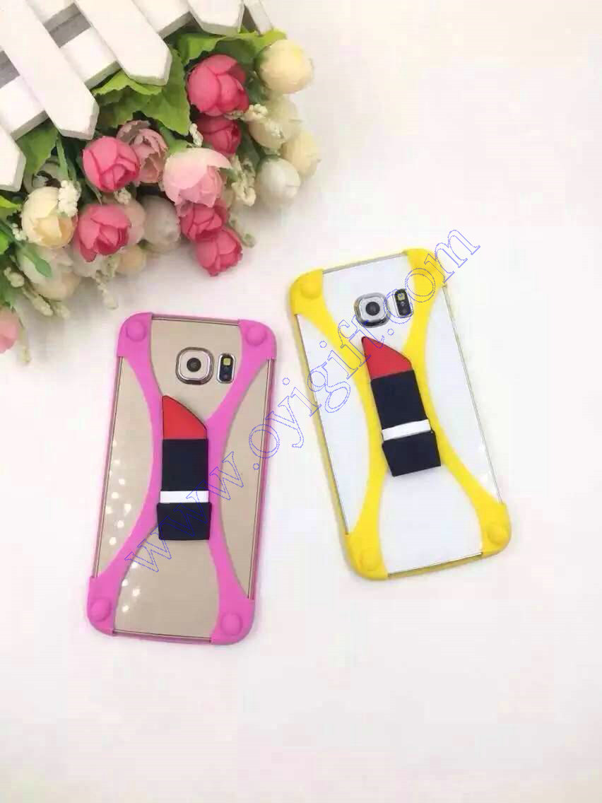 Universal lipstick Silicone Phone cover cases