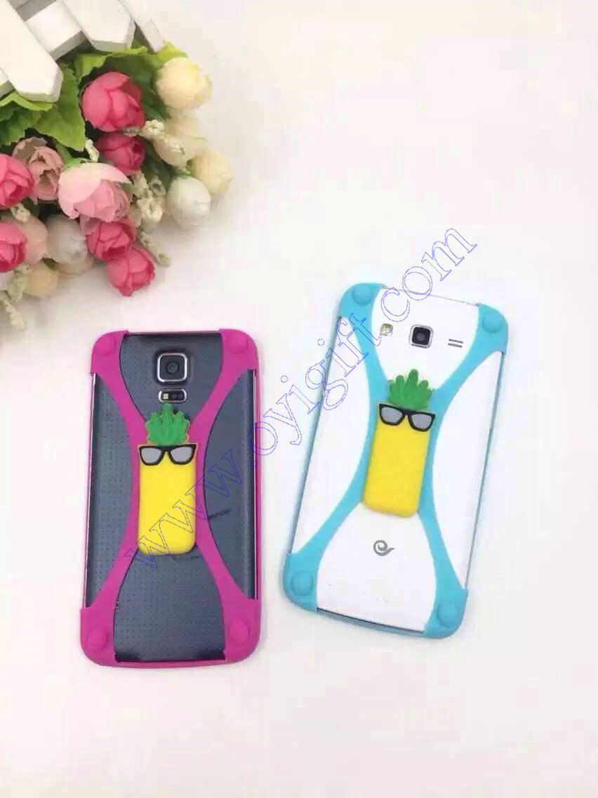 Universal fruit Silicone Cartoon Phone cover cases supplier
