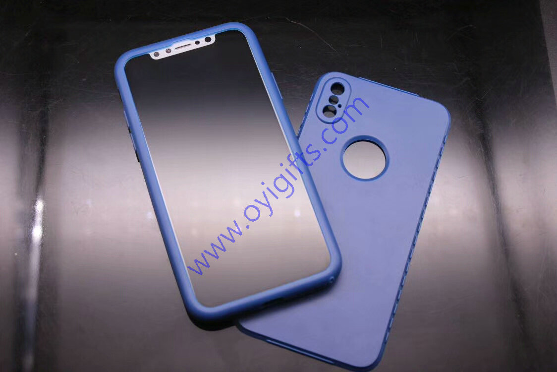 New 360 full side plastic cases cover for iphone X