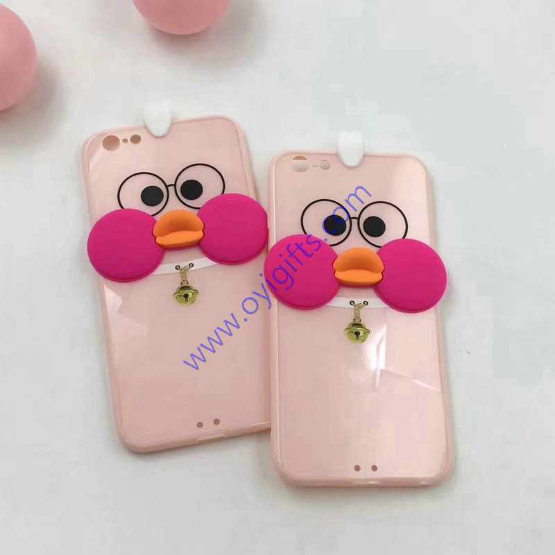 Lovely 3D doll duck customized phone cases cover